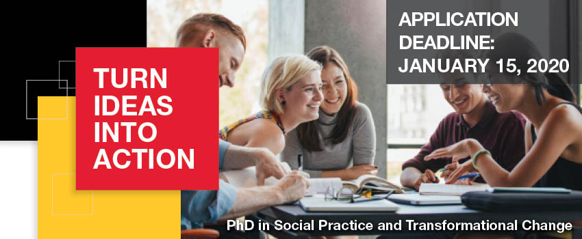 Turn ideas into action. PhD in social practice and transformational change