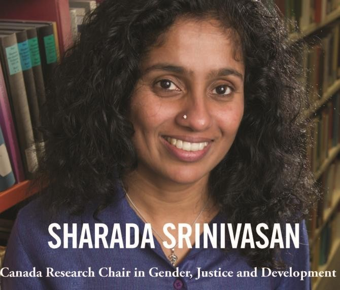 Photo of Sharada Srinivasan, Canada Research Chair in Gender, Justice and Development