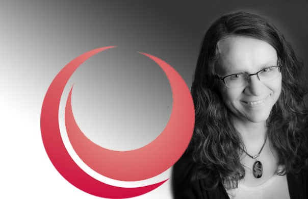 Deborah Stienstra and centre of families, work and wellbeing logo