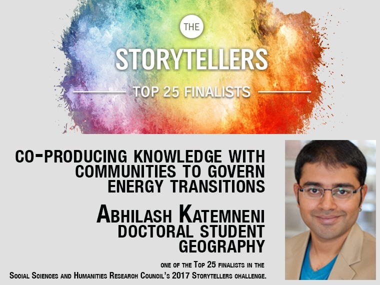 Photo of Abhilash Katemneni and rainbow paint splatter.  All text is duplicated in text